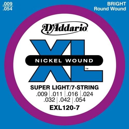 Струны для электрогитары D`ADDARIO EXL-120-7 #1 - фото 1