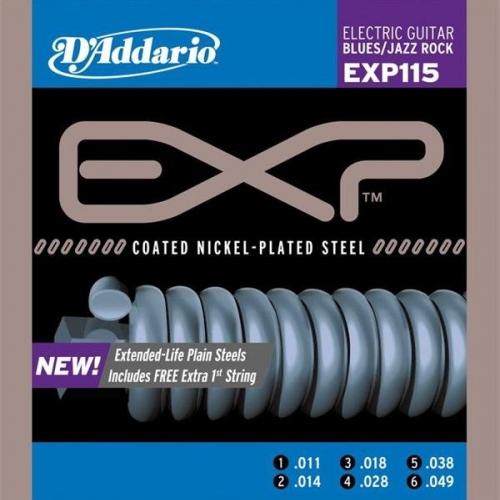 Струны для электрогитары D'ADDARIO EXP115 #1 - фото 1