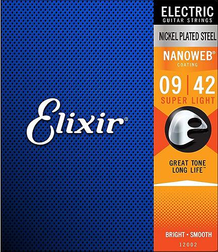 Струны для электрогитары Elixir 12002 NanoWeb  #1 - фото 1