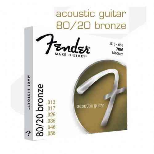 Fender STRINGS NEW ACOUSTIC 70XL 80/20 BRNZ ALL END 10-48