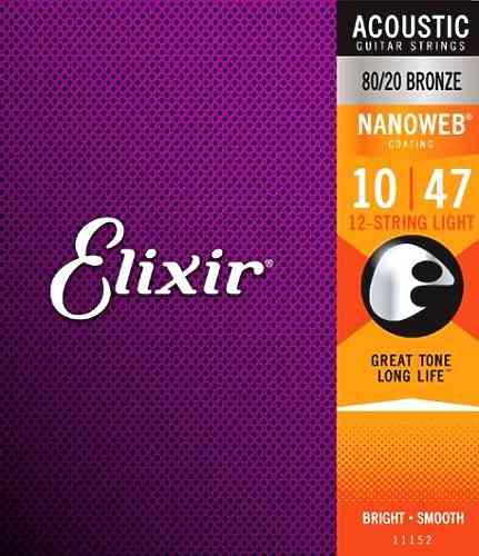 Elixir 11152 NanoWeb для 12 струнной гитары