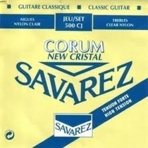Струны для классической гитары Savarez 500CJ Corum New Cristal Blue high tension #1 - фото 1