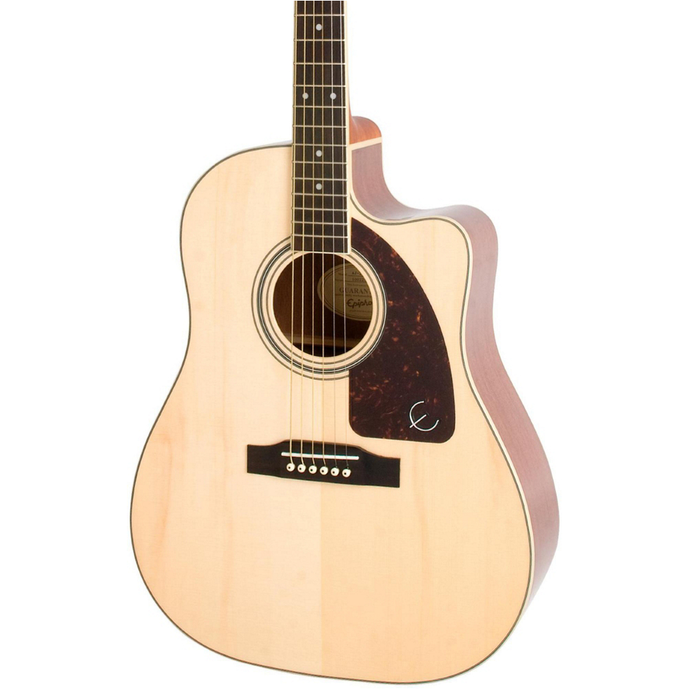 Epiphone AJ-220SCE Solid Top Acoustic Natural - фото 1