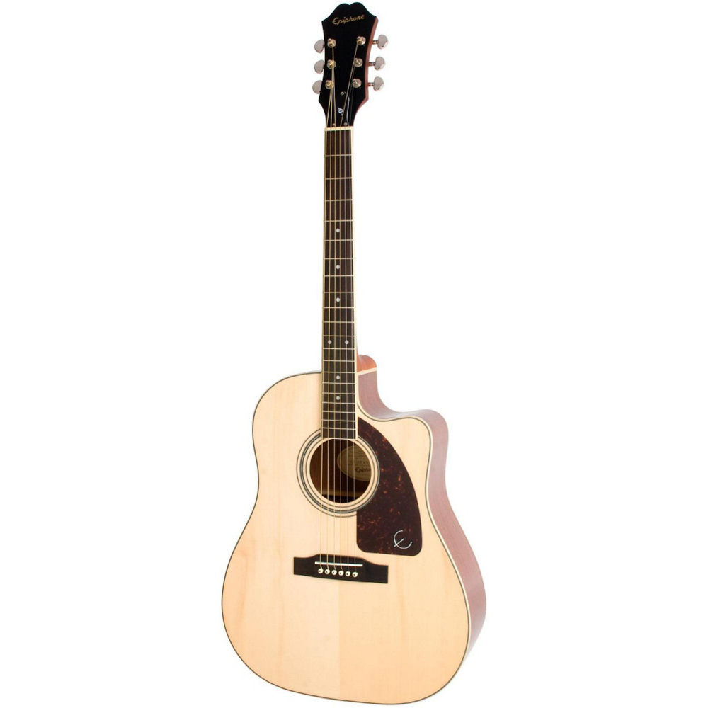 Epiphone AJ-220SCE Solid Top Acoustic Natural - фото 3