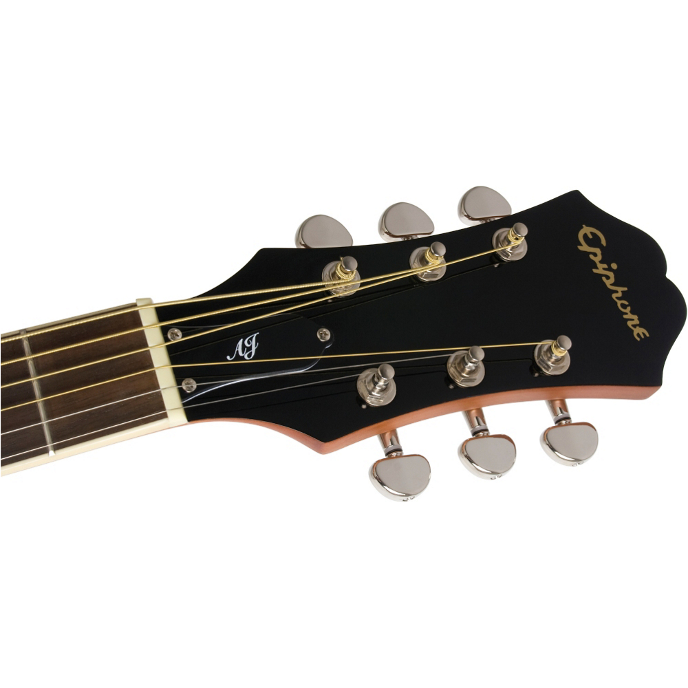 Epiphone AJ-220SCE Solid Top Acoustic Natural - фото 5
