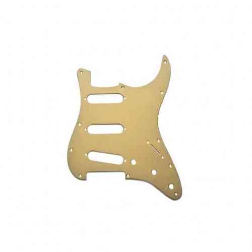 Fender Pickguard Standard Strat - 3 Single Coils - 11 Screw Holes 1 PLY Gold Anodized
