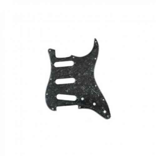 Fender Pickguard Standard Strat -3 Single Coils 11 Screw Holes 4-PLY Black Pearl