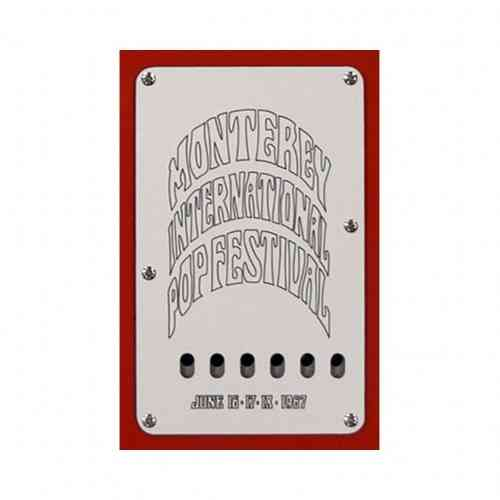 Fender Strat Tremolo Back Plate White/Black/White - 3-PLY