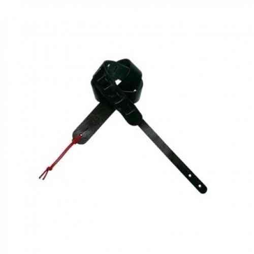 Dimarzio 2 Inch Custom Italian Acoustic Leather Strap Black DD3242BK