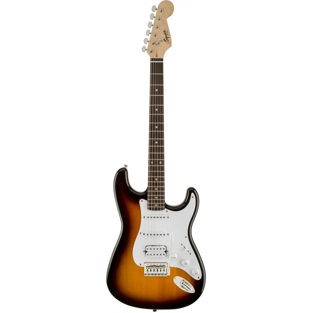 Fender Squier Bullet Strat Tremolo HSS RW Brown Sunburst - фото 2