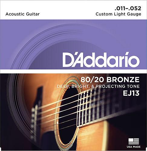 Струны для акустической гитары D`Addario EJ13  #1 - фото 1