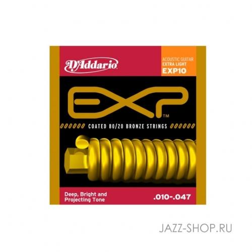 Струны для акустической гитары D`Addario EXP10 #1 - фото 1