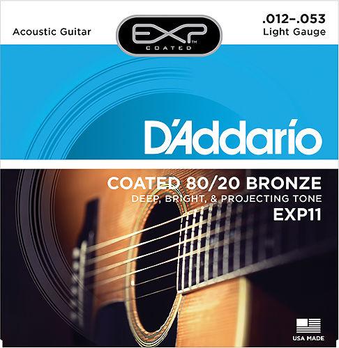 Струны для акустической гитары D`Addario EXP11  #1 - фото 1