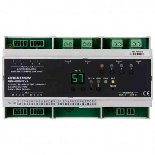 Crestron 4-канальный DIN-4DIMFLV4