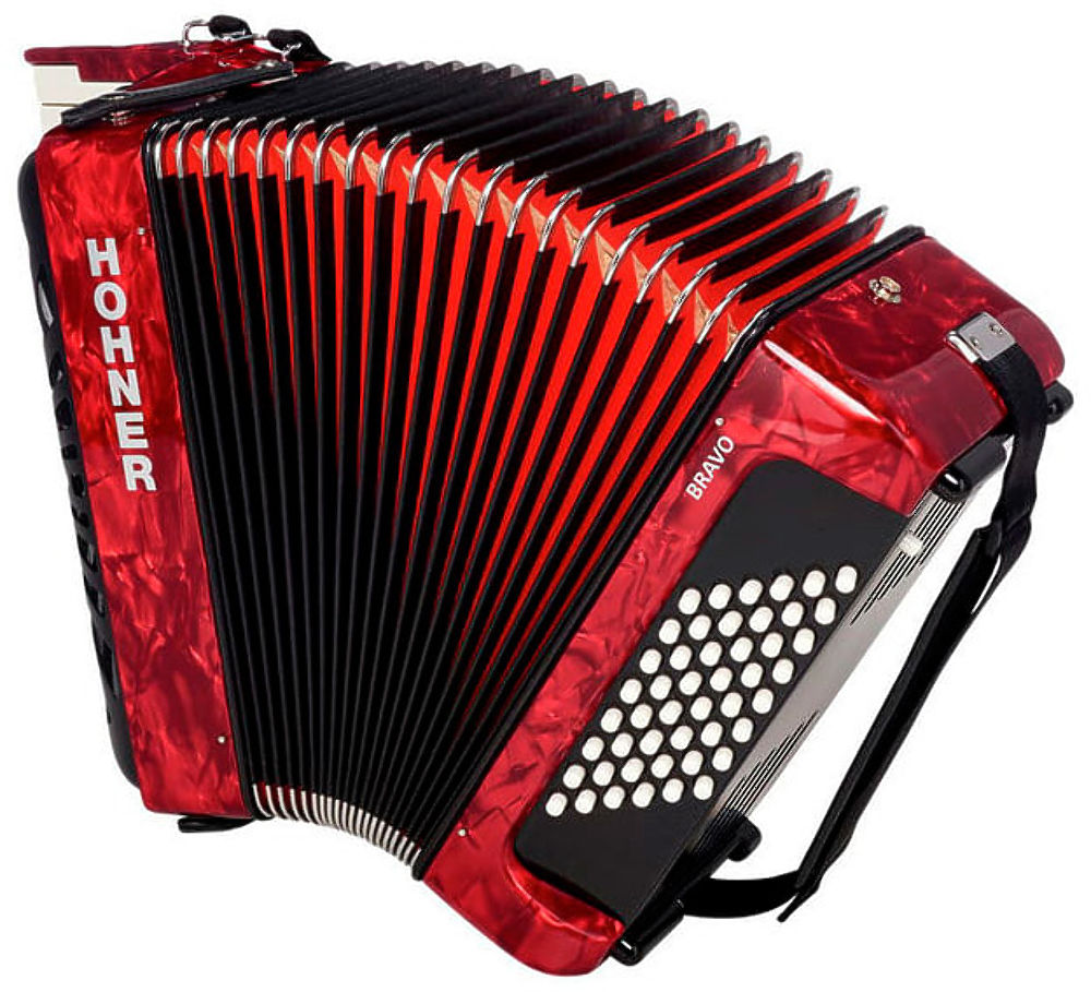 Hohner The New Bravo II 48 red (A16531/A16532) - фото 2