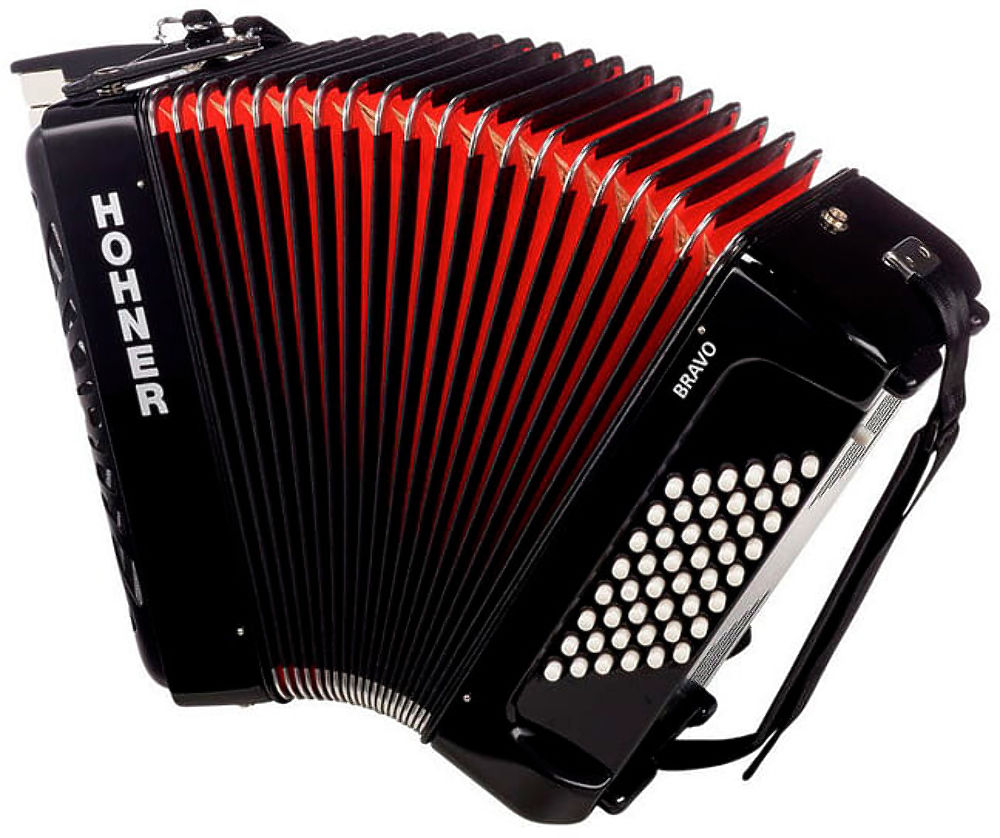 Hohner The New Bravo II 48 black (A16521/A16522) - фото 2