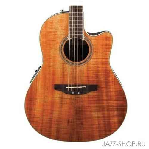 OVATION CS24P-FKOA Celebrity Standard Plus Mid Cutaway Figured Koa