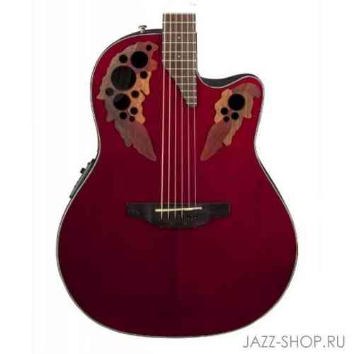 Ovation CE44-RR Celebrity Elite Mid Cutaway Ruby Red