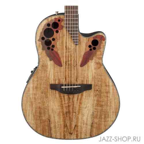 Ovation CE44P-SM Celebrity Elite Plus Mid Cutaway Natural Spalted Maple