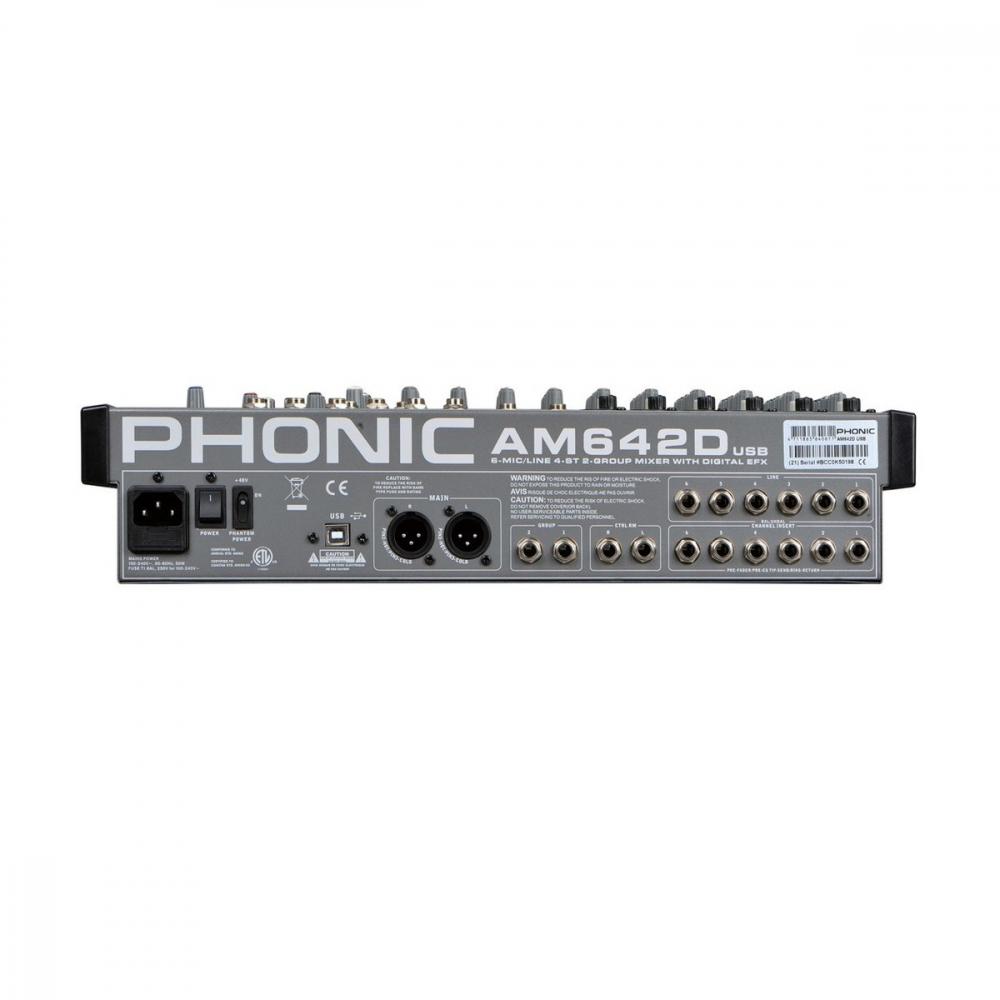 PHONIC AM642D USB - фото 2