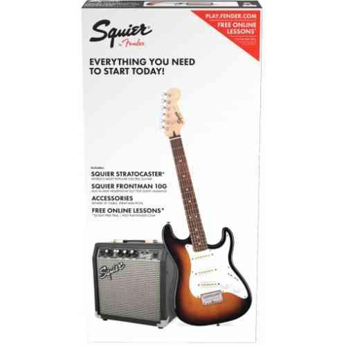 Fender Squier Stratocaster® Pack, Laurel Fingerboard Brown Sunburst, Gig Bag, 10G - 230V EU