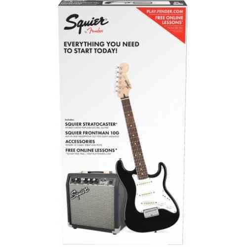 Fender Squier Stratocaster® Pack, Laurel Fingerboard Black, Gig Bag, 10G - 230V EU