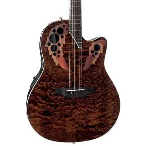 Ovation CE-48P TGE Celebrity Elite Plus Super Shallow Tiger Eye