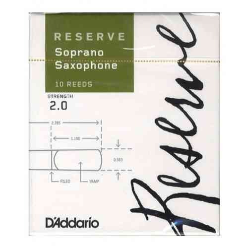 D`Addario WOODWINDS DIR1020 RESERVE SSX - 10 PACK - 2.0