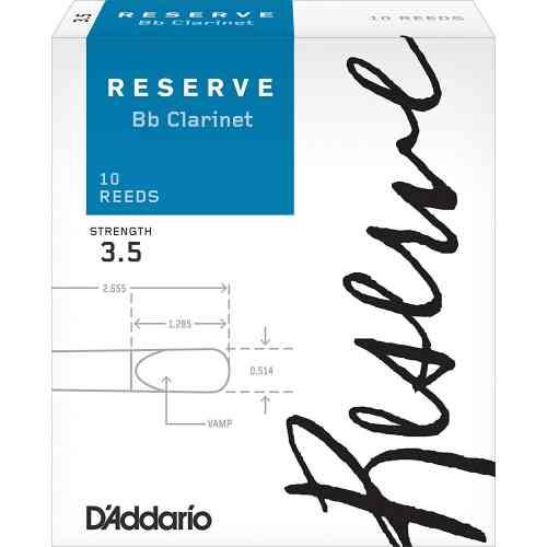 D`Addario WOODWINDS DCR1035 RESERVE BB CL - 10 PACK - 3.5