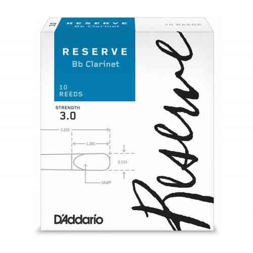 D`Addario WOODWINDS DCR1030 RESERVE BB CL - 10 PACK - 3.0