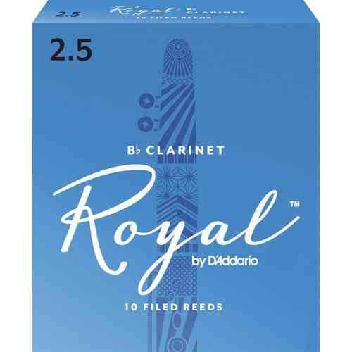 D`Addario WOODWINDS RCB1025 ROYAL, BB CLAR, #2.5, 10 BX