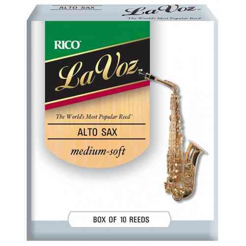 D`Addario WOODWINDS RJC10MS La Voz Alto Saxophone Reeds, MSFT, 10 BX