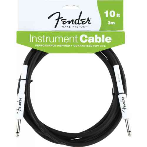 Fender 10' INST CABLE BLK