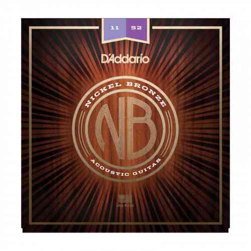 D`Addario NB1152 Nickel Bronze Acoustic, Custom Light