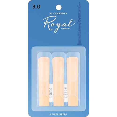 D`Addario WOODWINDS RCB0330 ROYAL, 3 PAK, BB CLAR, 3.0