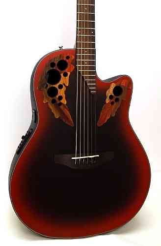 Ovation CE44-RRB Celebrity Elite Mid Cutaway Reversed Redburst