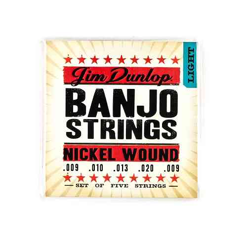 Dunlop DJN Banjo Nickel Light 09-20