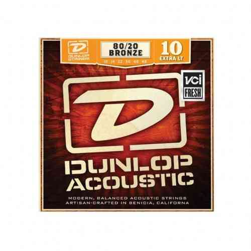 DUNLOP DAB 80/20 Bronze Extra Light 10-48